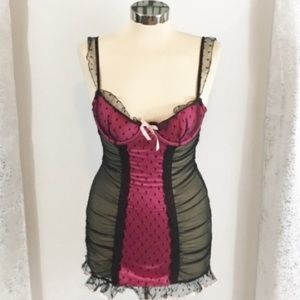 Victoria's Secret ruched lace chemise 34B